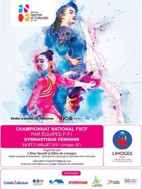 Gymnastique féminine - Affiche - FF1 - Limoges 2019