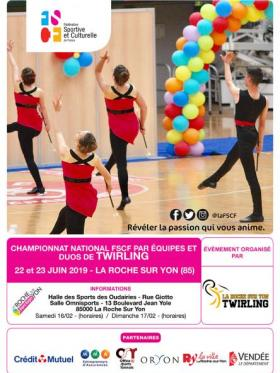Twirling - Affiche national par équipes et duo - La-Roche-Sur-Yon 2019