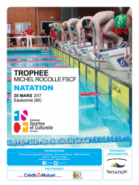 Affiche natation Trophée Miche Rocolle FSCF 2017