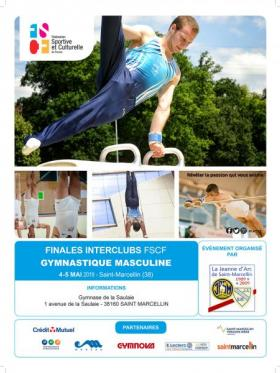 Gymnastique masculine - Affiche Interclubs - Saint-Marcellin 2019
