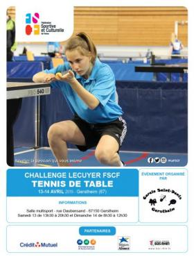 tennis de table FSCF