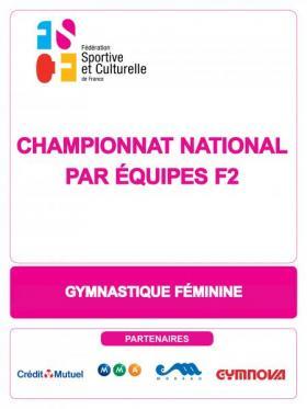 """Championnat national par équipes """"F2"""" de gymnastique féminine - 2020"""