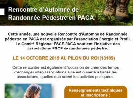 FSCF Rencontre d'Automne de Randonnée en PACA
