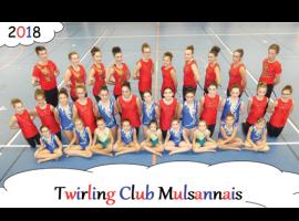 Les licenciés du club Twirling Mulsannais