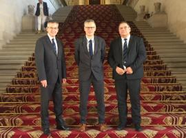 FSCF Rendez-vous au Sénat pour Denis Veyret - président du Comité Régional