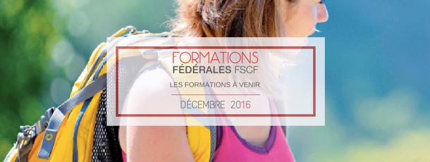FSCF Formations Fédérales Décembre 2016