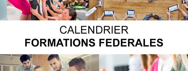 Calendrier des formations fédérales