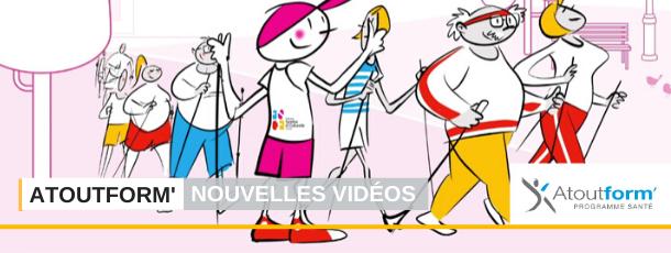 FSCF : 3 nouvelles vidéos du programme santé Atoutform' percent les écrans