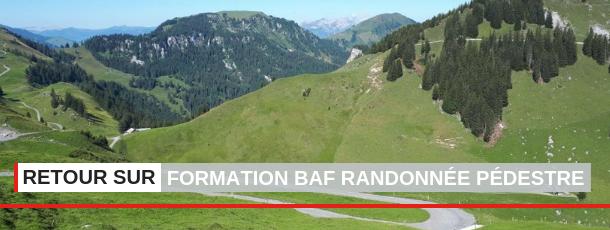 Formation Brevet d'Animateur Fédéral (BAF) Randonnée Pédestre.