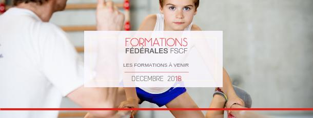 FSCF calendrier formations fédérales 2018