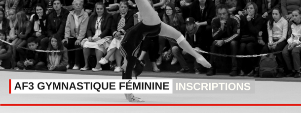 AF3 gym féminine ouverture des inscriptions