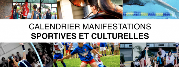 Calendrier manifestations sportives et culturelles FSCF