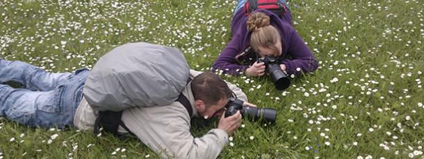 Deux photographes en herbe