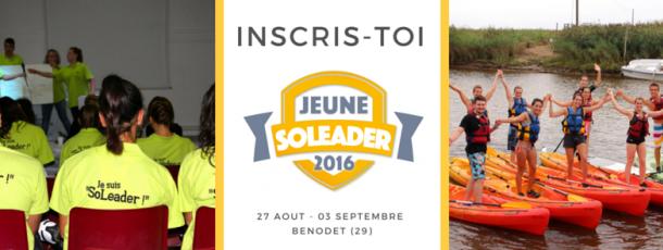 Prolongation des inscriptions pour Soleader 2016 !