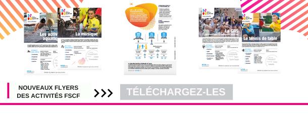 Nouveau flyers des activités FSCF : Téléchargez-les !