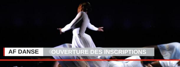AF Danse : ouverture des inscriptions pour la session juillet 2020 !