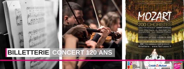 FSCF ouverture billetterie concert 120 ans