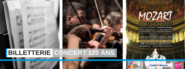 Billetterie concert 120 ans FSCF