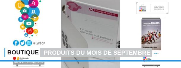 FSCF produits du mois de septembre