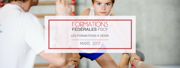 Formations fédérales Mars 2017
