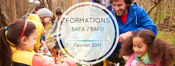 Les formations BAFA / BAFD à venir : février 2017