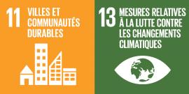 Objectifs 11 et 13 des 17 ODD de l'ONU