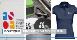 FSCF boutique produits du mois de juin
