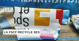 FSCF recyclage toile roll-up