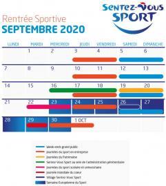 calendrier 2020 Sentez-Vous Sport