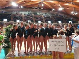 FSCF Chartreuse Gym vice-championne de France FSCF de gymnastique