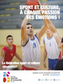 Affiche activité basketball