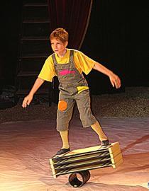 Equilibre et agilité font partis de l'art de cirque