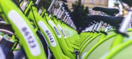Bornes de vélos en libre service