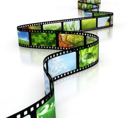 pellicule de film avec images de nature