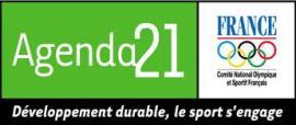 image du logo développement durable le sport s'engage du CNOSF