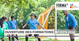 FORMA' : Ouverture des formations BPJEPS à la rentrée 2018