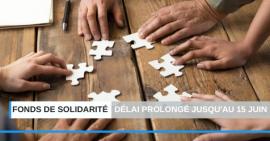 Fonds de solidarité - Délai prolongé jusqu'au 15 juin 2020 pour la déclaration d'avril