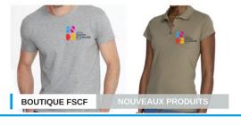 Des nouveaux produits FSCF disponibles sur la boutique !