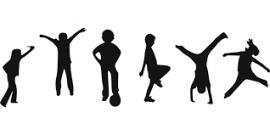 différentes postures d'activités physiques