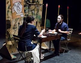 Deux acteurs en scène