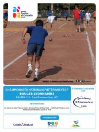 Les championnats nationaux vétérans de boules lyonnaises débutent demain !