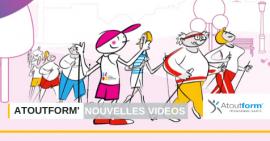 3 nouvelles vidéos du programme santé Atoutform' percent les écrans