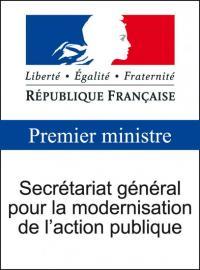 Logo secrétariat général pour la modernisation de l'action publique