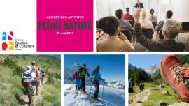 Rappel : Assises des activités de Pleine Nature FSCF
