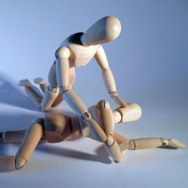 illustration de la mise en PLS avec des mannequin en bois