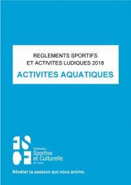 Le règlement 2017/2018 des activités aquatiques est maintenant disponible !