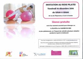 Invitation à la séance découverte ROSE Pilates