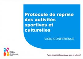 Visioconférence sur la reprise des activités au sein des associations