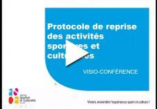 Visioconférence sur la reprise des activités dans les associations 24/09/20